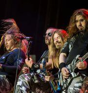 Sabaton under en spelning på Sweden Rock 2015. Erik Nylander/TT / TT NYHETSBYRÅN