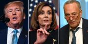 Donald Trump/Nancy Pelosi/Chuck Schumer. TT