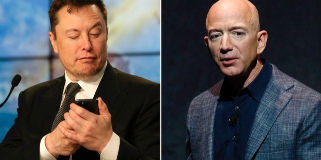 Musk och Bezos. TT