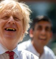 Storbritanniens premiärminister Boris Johnson tillsammans med finansminister Rishi Sunak.  Heathcliff O'Malley / TT NYHETSBYRÅN