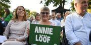 Annie Lööf och Maud Olofsson. Vilhelm Stokstad/TT / TT NYHETSBYRÅN