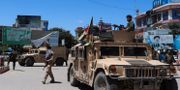 Afghanska säkerhetsstyrkor i staden Kunduz.  STR / TT NYHETSBYRÅN