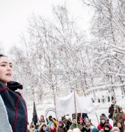 Gruvprotest i Jokkmokk 2014.  Carl-Johan Utsi / TT / TT NYHETSBYRÅN