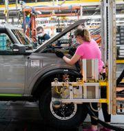 Anställda vid Ford-fabrik i Wayne, Michigan. Illustrationsbild. Carlos Osorio / TT NYHETSBYRÅN