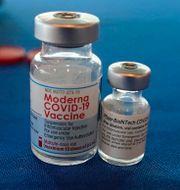 Modernas covidvaccin. Rogelio V. Solis / TT NYHETSBYRÅN