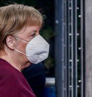 Merkel i Bryssel igår. Olivier Hoslet / TT NYHETSBYRÅN