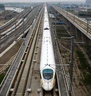Höghastighetståg i Kina. STR / SCANPIX