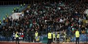 Bulgariska supportrar under matchen mot England. CARL RECINE / BILDBYRÅN