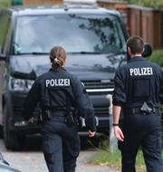 Polis vid en insats i McCann-utredningen/Christian Brückner TT/Tysk polis