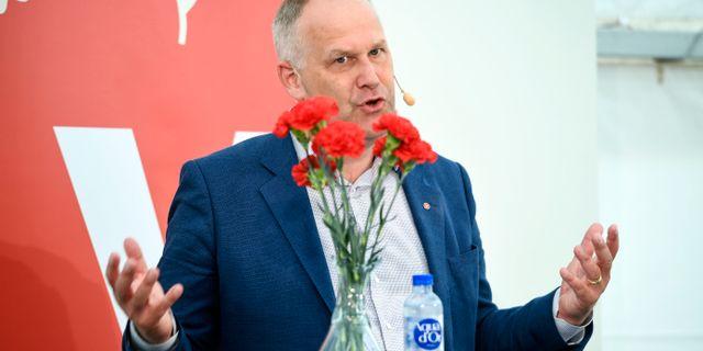 V-ledaren Jonas Sjöstedt. Henrik Montgomery/TT / TT NYHETSBYRÅN