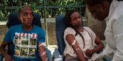 Mängder av människor vill ge blod efter attentatet i Nairobi YASUYOSHI CHIBA / AFP