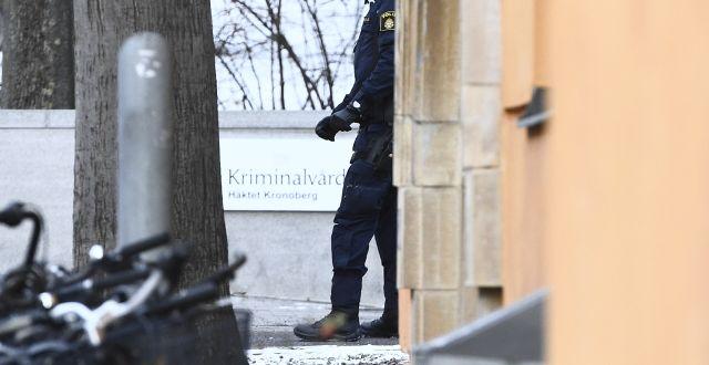 Ett misstänkt föremål har kommit till Kronobergshäktet i Stockholm. TT / TT NYHETSBYRÅN