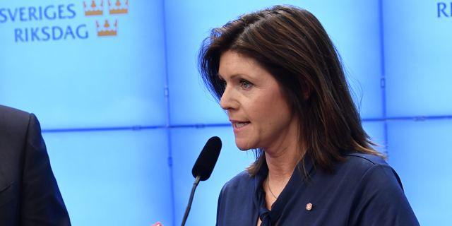 Nya arbetsmarknadsministern Eva Nordmark (S). Henrik Montgomery/TT / TT NYHETSBYRÅN
