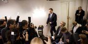Finska statsministern Juha Sipilä på vä in till en presskonferens.  LEHTIKUVA / TT NYHETSBYRÅN