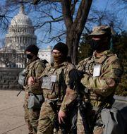 Nationalgardet utanför kongressbyggnaden. Carolyn Kaster / TT NYHETSBYRÅN