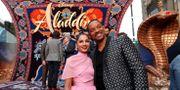 Skådespelarna Naomi Scott och Will Smith på premiären MARIO ANZUONI / TT NYHETSBYRÅN