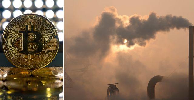 Bitcoin, utsläpp i Kina. AP / TT