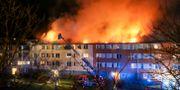 Brand i flerfamiljshus i Tynnered Adam Ihse/TT / TT NYHETSBYRÅN
