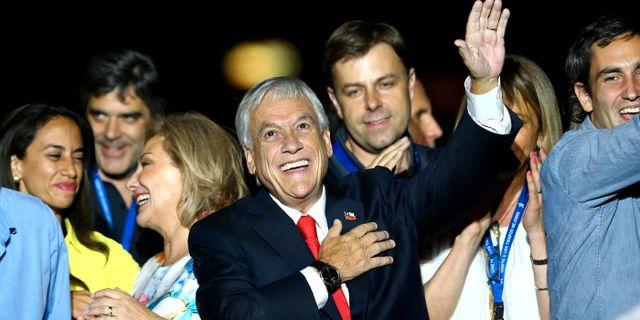 Högerpolitikern Sebastián Piñera. IVAN ALVARADO / TT NYHETSBYRÅN