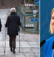 Finansminister Magdalena Andersson (S), till höger.  TT