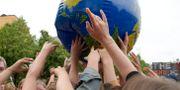 Bild från klimatstrejken i Stockholm. Janerik Henriksson/TT / TT NYHETSBYRÅN