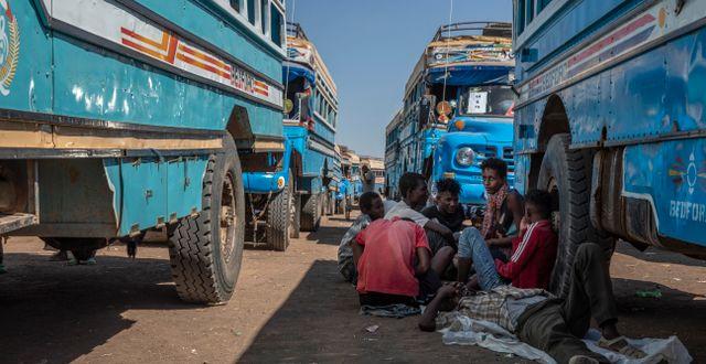 Bild från Hamdayet, Sudan. Nariman El-Mofty / TT NYHETSBYRÅN