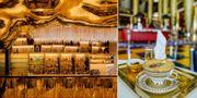 Det mesta är täckt av 24 karats guld i den lyxiga hotellbaren Gold On 27 i Dubai. Flickr