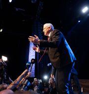 Benny Gantz efter att rösterna räknats i onsdags.  Sebastian Scheiner / TT NYHETSBYRÅN