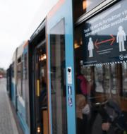 Östra sjukhuset i Göteborg/buss på Drottningtorget i Göteborg. TT