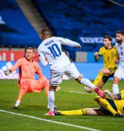 Bild från lördagens möte i Nations League.  JOEL MARKLUND / BILDBYRÅN