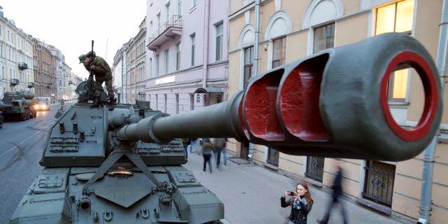 I Ryssland befarar 57 procent av befolkningen världskrig, enligt en undersökning. Dmitri Lovetsky / TT / NTB Scanpix