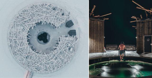 Treehotels systerhotell Arctic Bath öppnade i dagarna.  Pasquale Baseotto/Daniel Holmgren