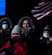Supportrar vid mötet i Omaha, Nebraska. Evan Vucci / TT NYHETSBYRÅN
