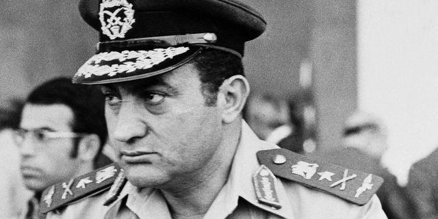 Hosni Mubarak 1974 – sju år innan han blev president. Harry Koundakjian / TT NYHETSBYRÅN