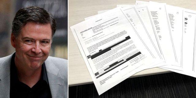 James Comey/De släppta dokumenten.  TT
