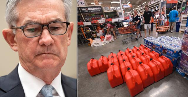 Fed-chefen Jerome Powell/Shopping på Home Depot i USA. TT