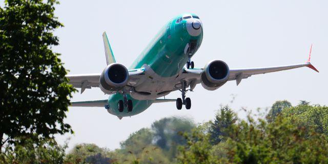 Boeing 737 Max-plan som tillhör American Airlines. Ted S. Warren / TT NYHETSBYRÅN/ NTB Scanpix