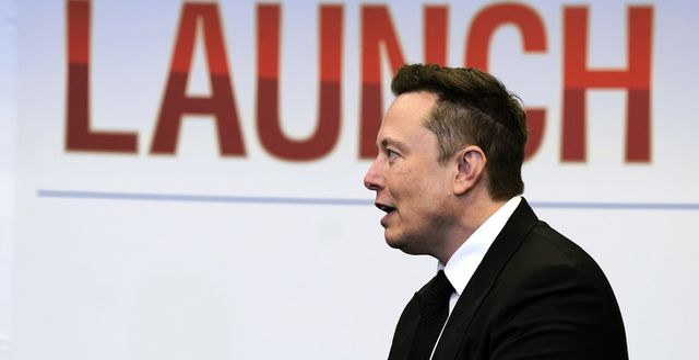 Elon Musk.  Evan Vucci/TT