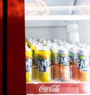 Läsk i Sverige innehåller mycket socker. Karin Wesslén/TT / TT NYHETSBYRÅN