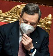 Mario Draghi i senaten Roberto Monaldo / TT NYHETSBYRÅN