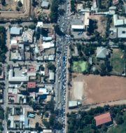 Satellitbild över Mekele TT NYHETSBYRÅN