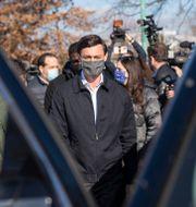 Demokraten Jon Ossoff på valdagen. Branden Camp / TT NYHETSBYRÅN