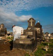 Begravning i Rio de Janerio.  Bruna Prado / TT NYHETSBYRÅN