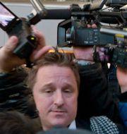 Spavor tillsammans med Dennis Rodman på väg till Nordkorea. Ng Han Guan / TT NYHETSBYRÅN
