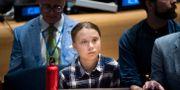 Greta Thunberg under klimattoppmötet för unga. Pontus Lundahl/TT / TT NYHETSBYRÅN