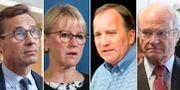 Ulf Kristerson (M), Margot Wallström (S), Stefan Löfven (S) och kung Carl XVI Gustaf.