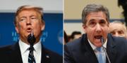 Donald Trump och Michael Cohen  TT