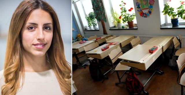 Helya Riazat, rektor på Järvaskolan / Illustrationsbild Järvaskolan / TT
