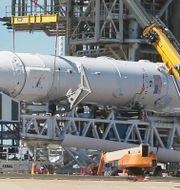 Arkivbild: Space X Falcon 9-raket. Red Huber / TT NYHETSBYRÅN/ NTB Scanpix