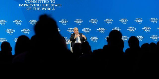 FN:s generalsekreterare António Guterres i Davos. Markus Schreiber / TT NYHETSBYRÅN